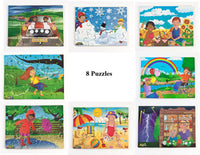 Junior Jigsaw Puzzles - All Kinds of Weather (8 puzzles in one box)
