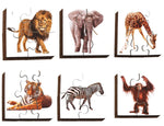 Early Years Jigsaw Puzzles - Wild Animals (6 puzzles in one box)