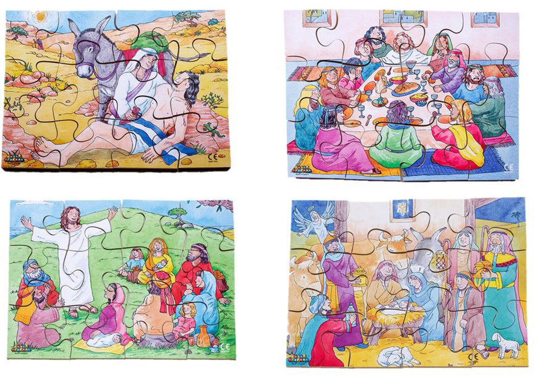 Junior Jigsaw Puzzles - Religion - New Testament (4 puzzles in one box)