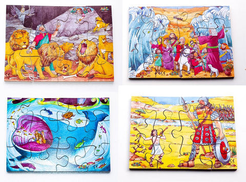 Junior Jigsaw Puzzles - Religion - Old Testament (4 puzzles in one box)