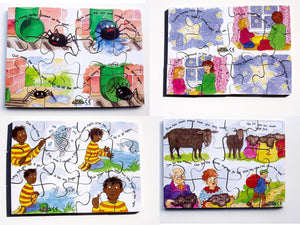 Junior Jigsaw Puzzles - Nursery Rhymes Set1 (4 puzzles in one box)