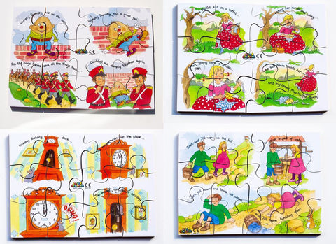 Junior Jigsaw Puzzles - Nursery Rhymes Set2 (4 puzzles in one box)