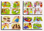 Junior Jigsaw Puzzles - Nursery Rhymes Set3 (4 puzzles in one box)