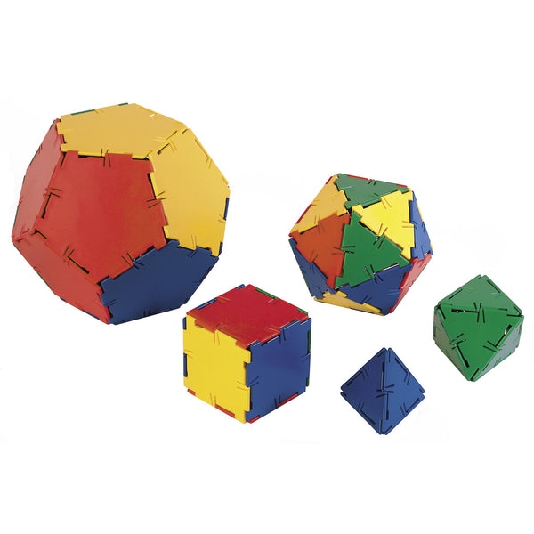 Polydron Platonic Solids Set (50 pieces)
