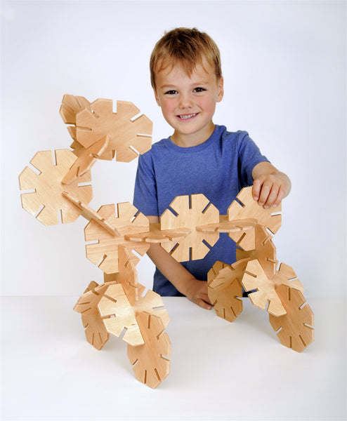 Wooden Octoplay - Natural Colours