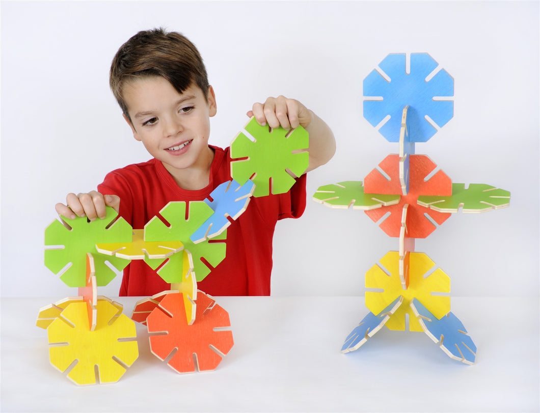 Wooden Octoplay - Bright Colours
