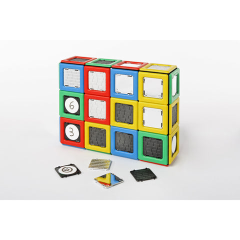 Magnetic Polydron Clip-in Panels (40 pieces)