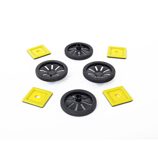 Magnetic Polydron Wheels Add-on Set (8 pieces)