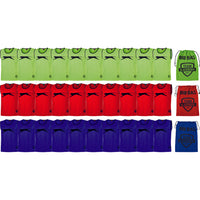 Slazenger Football / Sports Training Bibs & Storage - Pack A (Green/Red/Royal -Youth)