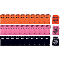 Slazenger Football / Sports Training Bibs & Storage - Pack C  (Orange/Pink/Black - Youth)