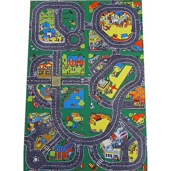 Giant Roadway Playmat - A Fun Addition For The Bedroom, Playroom, Nursery Or Class Room! (Right Hand Drive/Continental)