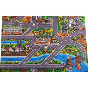 Giant London Playmat - A Fun Addition For The Bedroom, Playroom, Nursery Or Class Room!