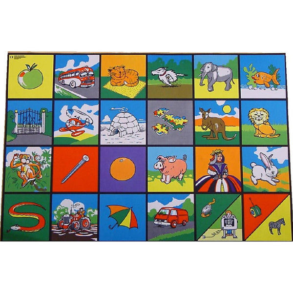 Giant Alphabet Picture Playmat - Super Chunky A-Z Alphabet Images - What A Fun Way To Learn!