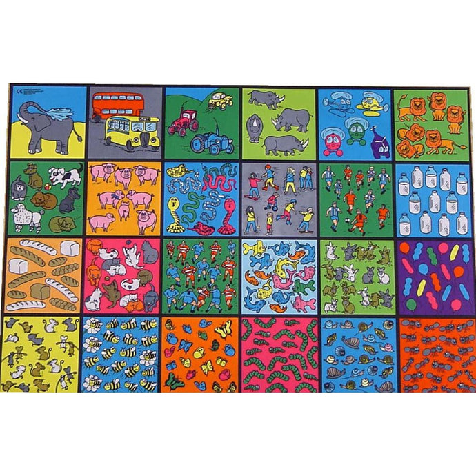 Giant Counting Playmat - From Bumble Bees To Big Buses - Makes Counting Fun!