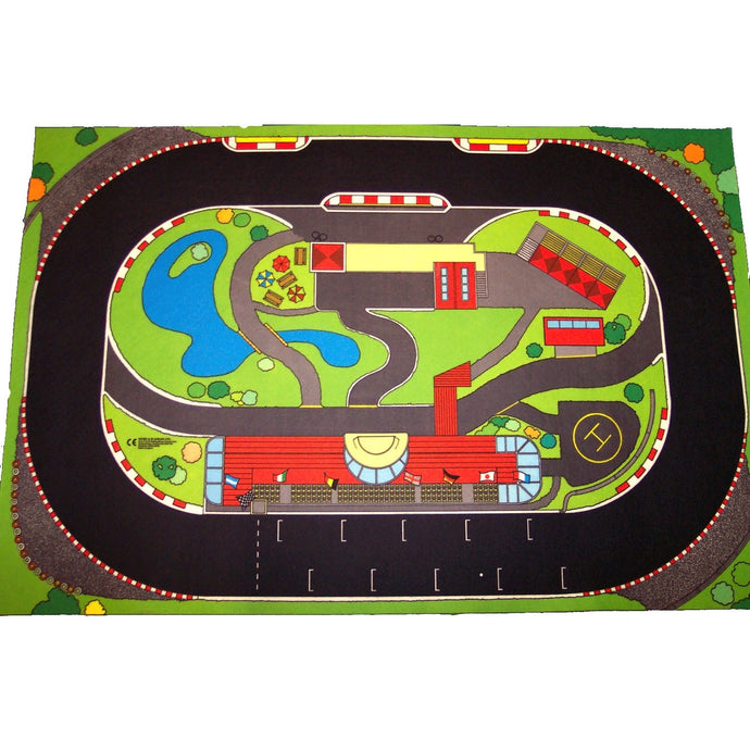 Giant Grand Prix Playmat - A Fun Addition For The Bedroom, Playroom, Nursery Or Class Room!