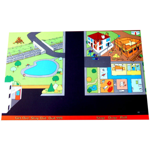 Giant Fire Safety Playmat - A Fun Addition For The Bedroom, Playroom, Nursery Or Class Room!