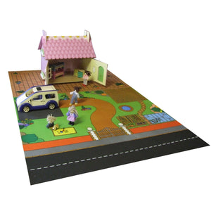 Giant Doll'S House Playmat - A Fun Addition For The Bedroom, Playroom, Nursery Or Class Room!