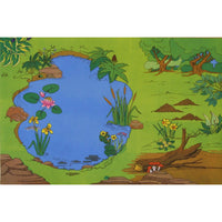 Giant Nature Reserve Playmat - An Oasis For Your Toy Birds, Animals And Water Creatures!