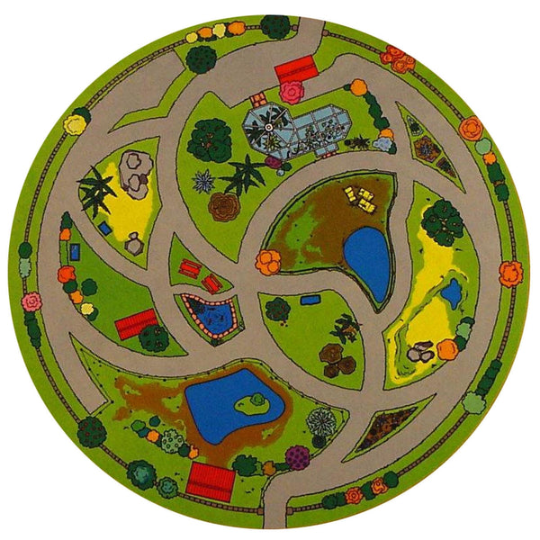 Animal Sanctuary Playmat - Your Toy Animals Now Have A Wonderful Place To Explore!