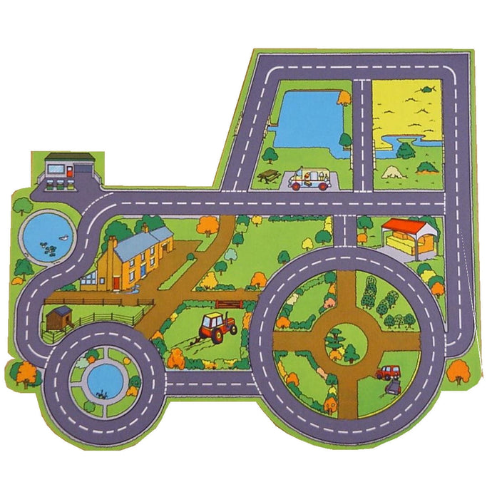 Giant Tractor Farm Playmat - A Fun Addition For The Bedroom, Playroom, Nursery Or Class Room!