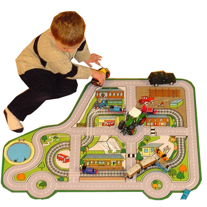 Giant Car Roadway Playmat - A Fun Addition For The Bedroom, Playroom, Nursery Or Class Room!
