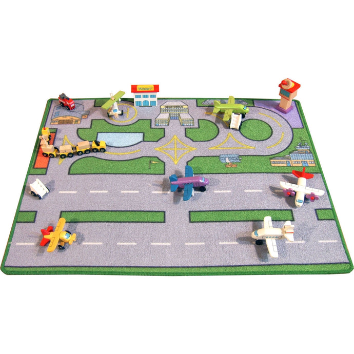 Large Heathwick Airport Playmat - A Fun Addition For The Bedroom, Playroom, Nursery Or Class Room!