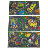 Roadway Playmat (Set Of 3) - Cleverly Designed To Fit Together In Any Direction For Multiple Layouts!
