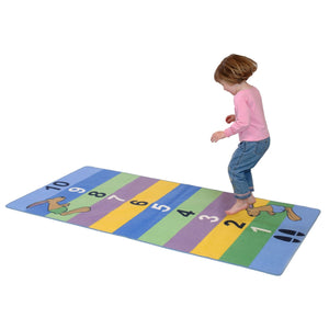 Hopping Hare Standing Jump Activity Rug - Includes Great Activities To Encourage Youngsters To Jump!