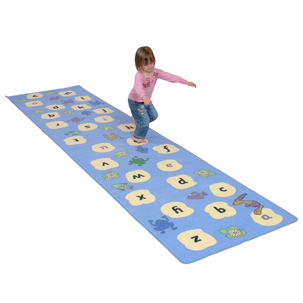 Hopping Hare Alphabet Stepping Stones Play Rug - Includes Great Activity Ideas!