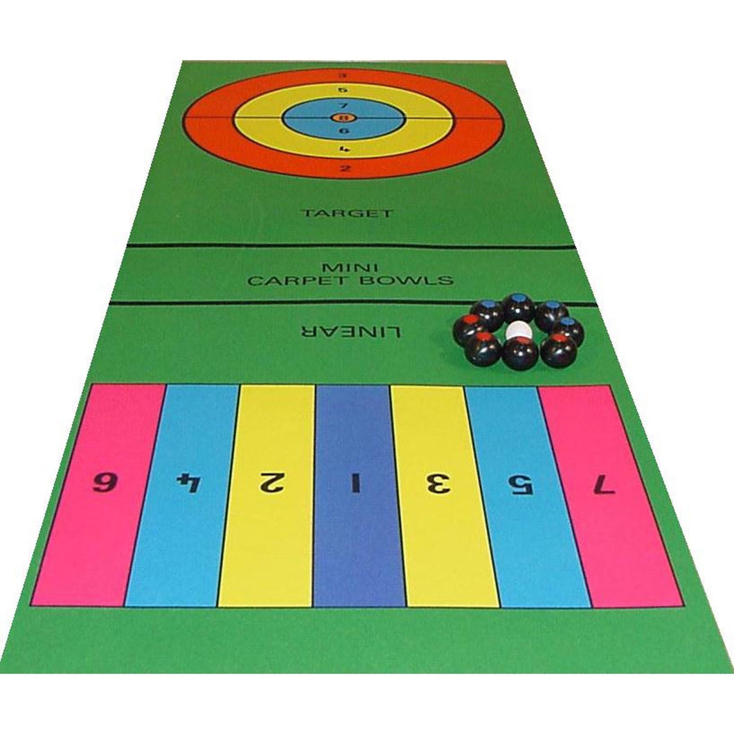 Mini-Carpet Bowls (200 X 75Cm) - Perfect For Some Indoor Fun In A Restricted Area!