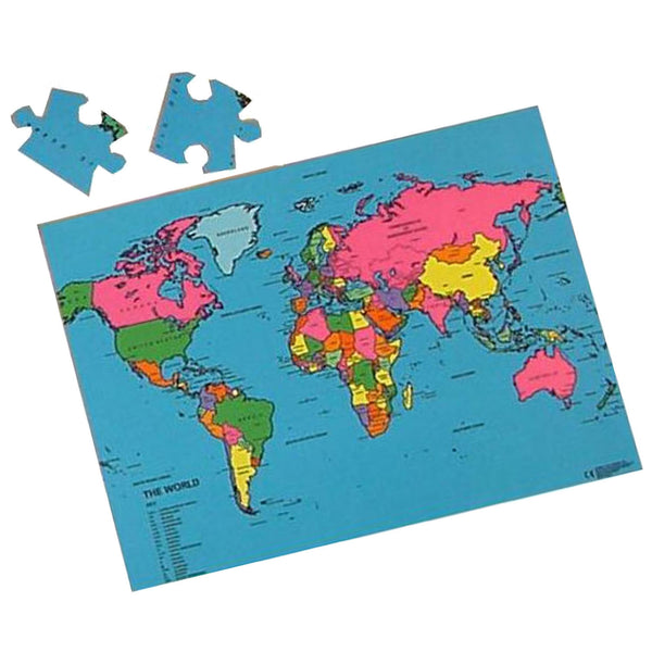 Large World Map Puzzle  - A Fun Way To Learn About The World!