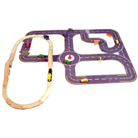Super Roadway System - 30 Pieces To Build A Road System, All In A Handy Storage Tray … A Great Gift!