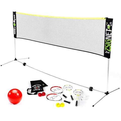 ZSIGNET 10 Badminton/Volleyball/Multisport Family Set - Great for Garden & Holidays!