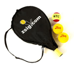 "MINI Tennis 19"" Racket with Headcover & 3 Balls - The perfect starter!"