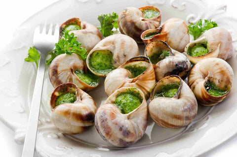 Escargot With Garlic Butter - Groomer's Seafood