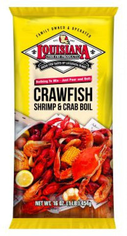 LA Crawfish, Shrimp and Crab Powdered Boil (16 oz.) - Groomer's Seafood