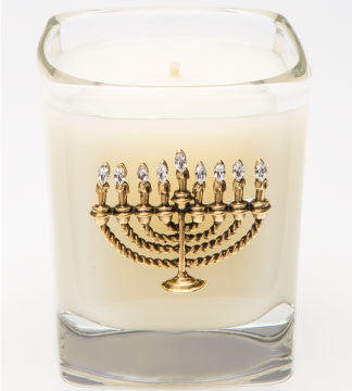 Happy Hanukkah - 09 oz. menorah - Lux Fragrances
