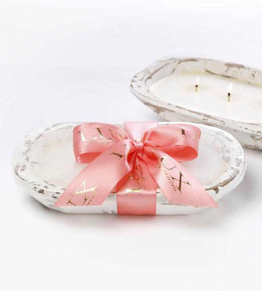 Grapefruit - Dough Bowl (white) 3 Wick Candle - Lux Fragrances