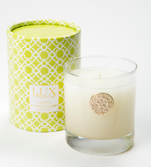Jack's Flower Shop - 10oz. At Home Box Candle - Lux Fragrances