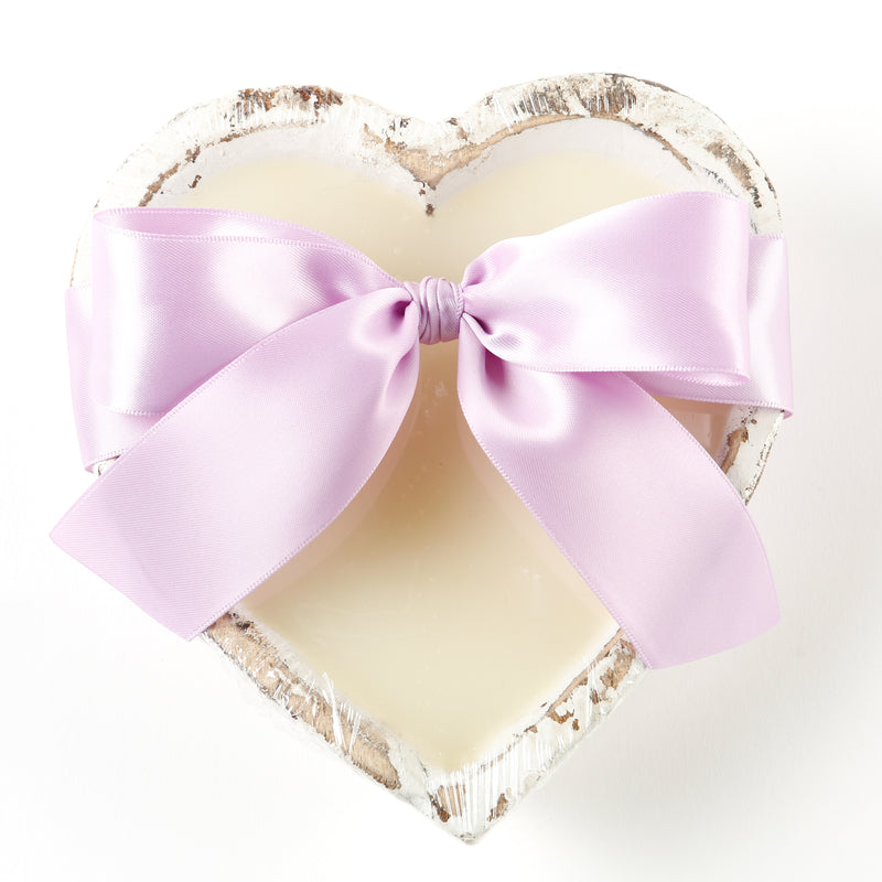 French Lavender - Heart-Shaped Dough Bowl Candle