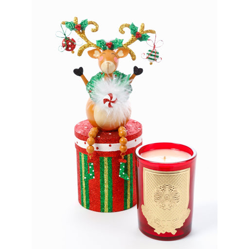 Reindeer Games 8oz Gift Box Candle (fragrance Noble Fir)
