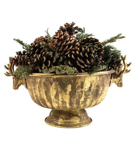 Noble Fir - Gilded Deer Head Container - Lux Fragrances