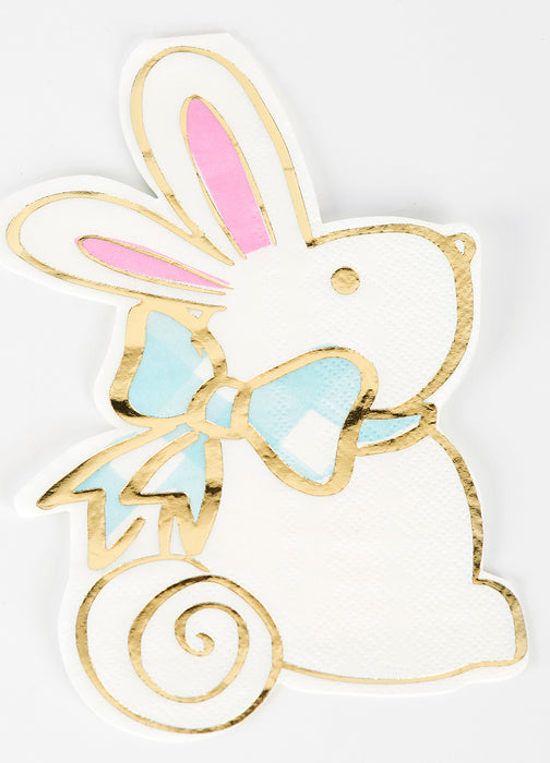 Rabbit Diecut Beverage Napkins - Package of 20