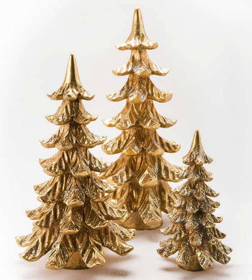 Noble Fir - Set of 3 Gold Trees - Lux Fragrances