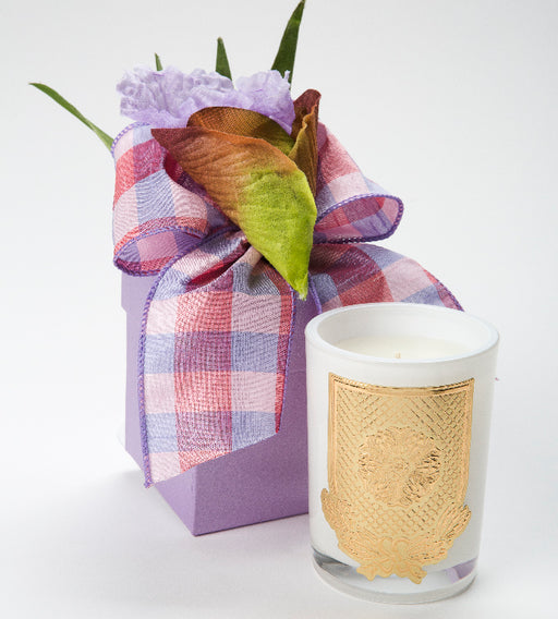 Spring - French Lavender Candle - 08oz. flower box - Lux Fragrances