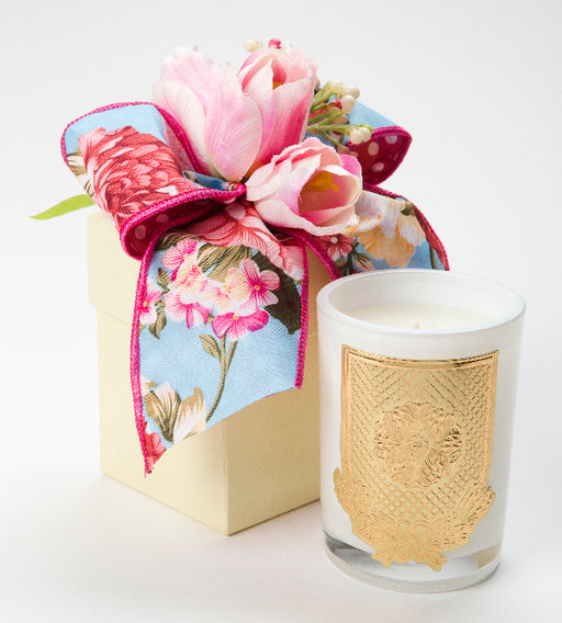 Mille Fleur Candle - 08oz. flower box - Lux Fragrances