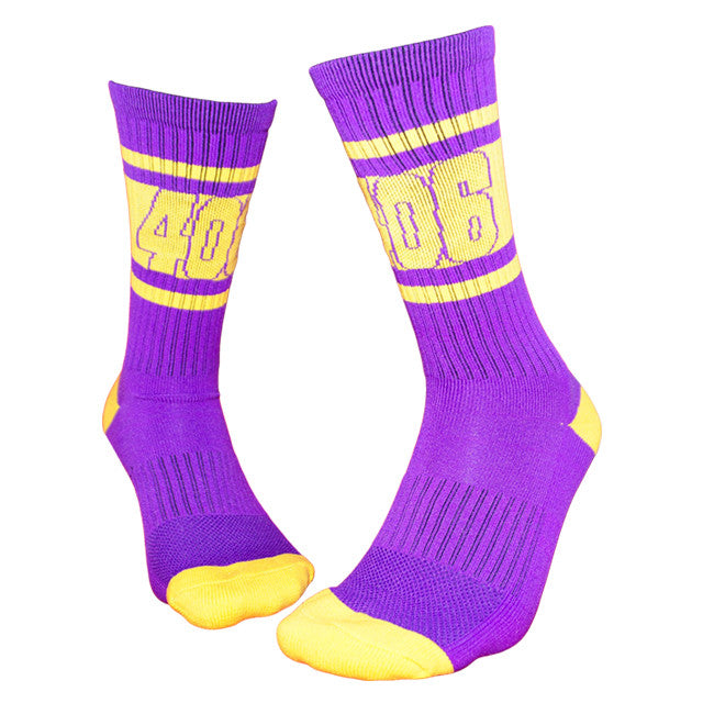 """406"" Athletic Crew-Purple/Yellow Gold"