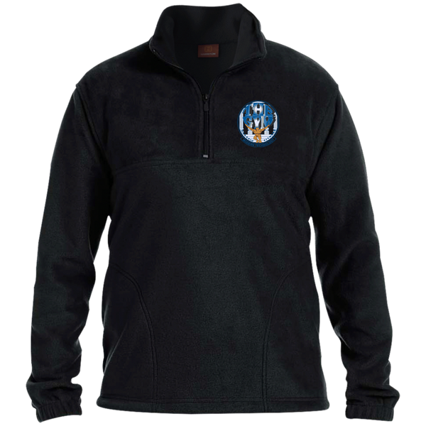 Men's Embroidered 1/4 Zip Fleece Pullover