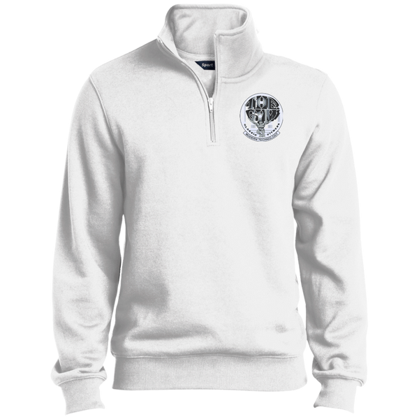 Quarter-Zip Embroidered Sweatshirt