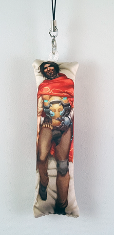 The Good, the Bad, and the Daki Mini Dakimakura Phone Strap
